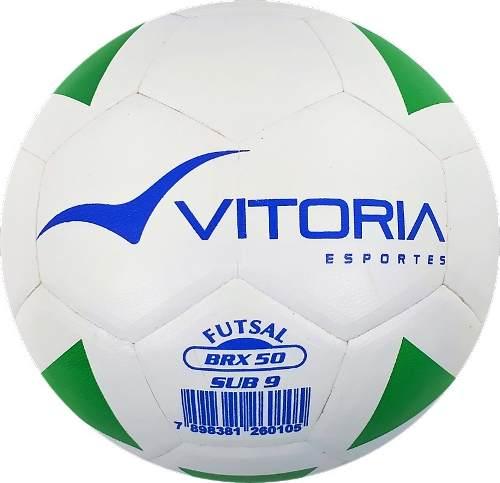 kit 2 Bolas Futsal Vitoria Brx 50 Sub 9 (6 A 8 Anos) + Bomba Ar