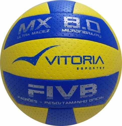 Kit 3 Bolas Volei Oficial Vitoria Mx 8.0 Pro Ultra Macia  - Vitoria Esportes