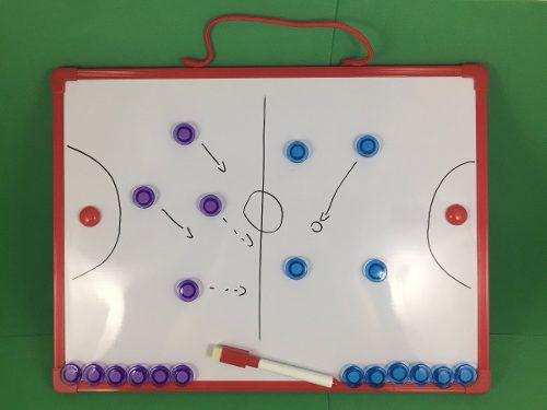 d46f5f2d48 Quadro Tático Prancheta Magnética Multiuso Campo Futsal - Vitoria Esportes