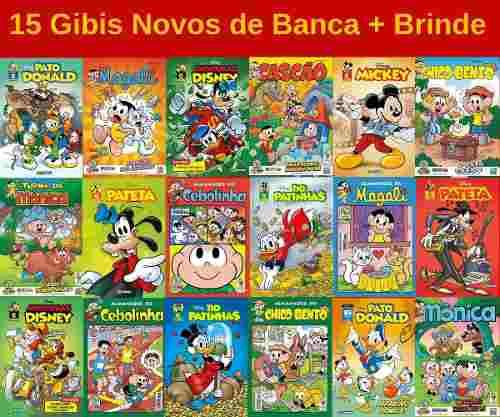 15 Gibi Hq Disney Turma Da Mônica Novo Lacrado Sem Repetição  - Vitoria Esportes