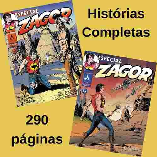 Combo Hqs Gibi Quadrinhos Zagor Especial 53 E 54 Mythos  - Vitoria Esportes