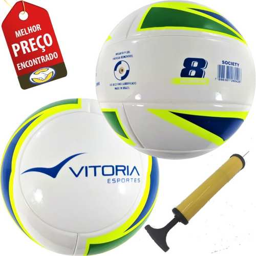 Bola Futebol Sete / Society Liga Com 2 Unid Adulto Oficial  - Vitoria Esportes