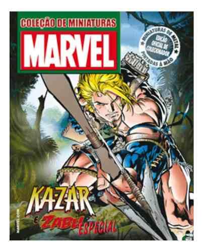 Revista Marvel Edição Especial - Ka-zar E Zabu Eaglemoss  - Vitoria Esportes