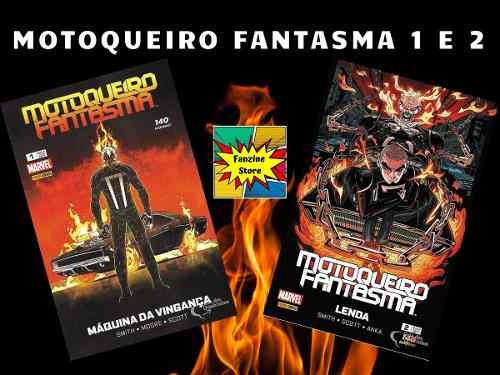 Hq Gibi Marvel Motoqueiro Fantasma 1 E 2 Panini  - Vitoria Esportes