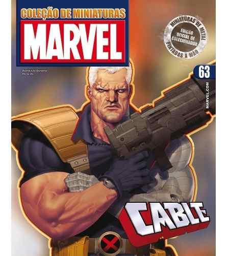 Revista Marvel Edição 63 - Cable Eaglemoss  - Vitoria Esportes