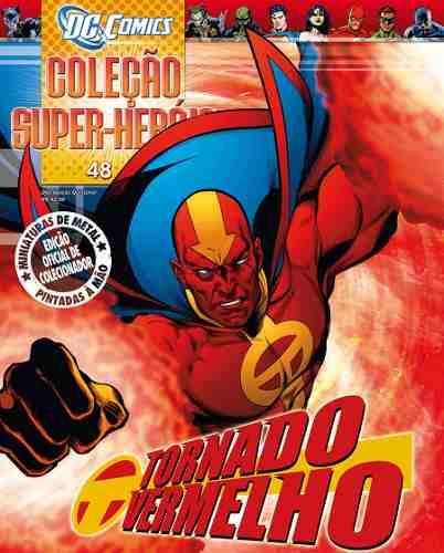 Revista Dc Comics Edição 48 - Tornado Vermelho Eaglemoss  - Vitoria Esportes