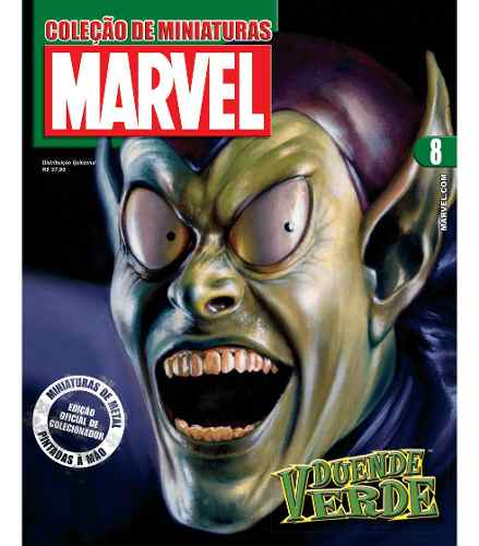 Revista Marvel Edição 8 - Duende Verde Eaglemoss  - Vitoria Esportes