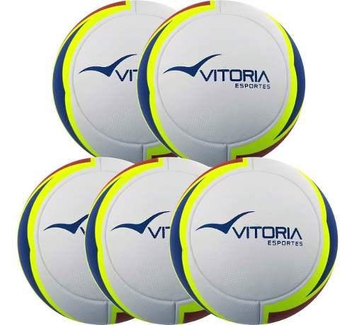 Kit 5 Bolas Futsal Vitoria Oficial Termofusion Max 1000  - Vitoria Esportes