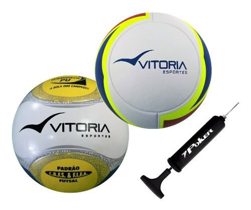 Kit 2 Bolas Futsal Oficiais Em Pu - Vitoria Esportes  - Vitoria Esportes