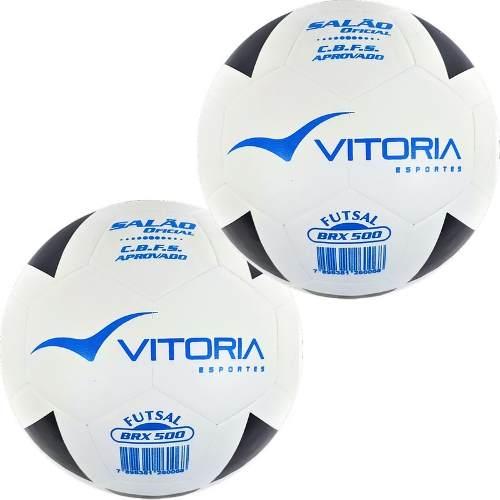 Bola Futsal Vitória Oficial Brx 500 - Kit Com 2 Unidades  - Vitoria Esportes