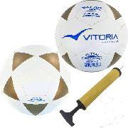 kit 2 Bolas Futsal Vitoria Brx 450 Sub 15 Juvenil + Bomba Ar