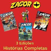 Kit Hq Gibi - Zagor 166, 167 E 168 - Histórias Completas