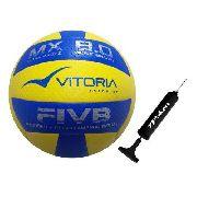 Bola Volei Oficial Vitoria Mx 8.0 Pro Ultra Macia C Bomba Ar
