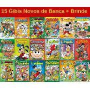 15 Gibi Hq Disney Turma Da Mônica Novo Lacrado Sem Repetição