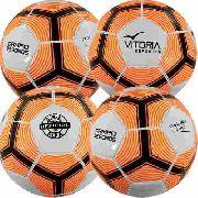 Bola Futebol De Campo Oficial Costurada Pu Kit Com 4