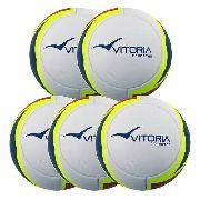 Kit 5 Bolas Futsal Vitoria Oficial Termofusion Max 1000