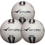 3 Bolas Futsal Vitoria Oficial Prata Max 100 Mirim Sub 13