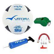 Kit Bola Futsal Vitória Oficial Brx Max 500 - Salão