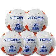 Kit 5 Bolas Futsal Vitoria Brx Max 40 Sub 7 (3/6 Anos) Baby