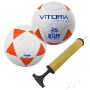 kit 2 Bolas Futsal Vitoria Brx 40 Sub 7 (3 A 6 Anos) + Bomba Ar