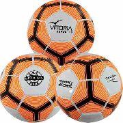 Bola Futebol De Campo Vitoria Oficial Kit Com 3 Unidades