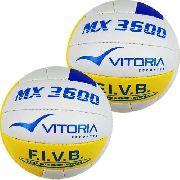 Bola Volei Oficial Vitoria Mx3600 Pu Soft 2 Unidades