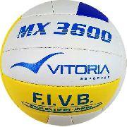Bola Vôlei Oficial Vitoria Mx 3600 Pu Soft Costurada A Mão