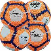 Kit 4 Bolas Futsal Vitória Oficial Costurada Mão Mx510