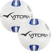 2 Bolas Futsal Vitoria Oficial Prata Max 100 Mirim Sub 11