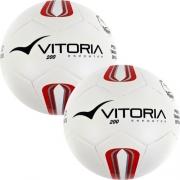 2 Bolas Futsal Vitoria Oficial Prata Mx 200 Infantil Sub 13