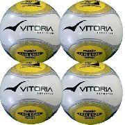Bola Futsal Vitória Oficial Termotech Pu Kit Com 4 Unidades