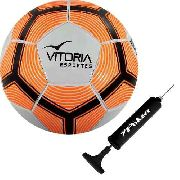 Bola Futebol De Campo Oficial Vitoria Costurada A Mão Mx600 + Bomba