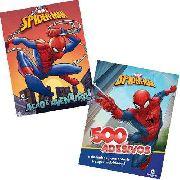 Kit 2 Livros Marvel Homem Aranha Origem 500 Adesivos Ativides