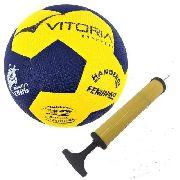 Bola Handebol Oficial Vitoria Grip H2l + Bomba De Ar
