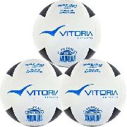 Bola Futsal Vitória Oficial Vulcanizada Brx 500 - 3 Unidades
