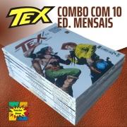 Combo Com 10 Edições Hqs Tex Mensal