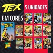 Combo Hqs Tex Em Cores 5 Unidades Sortidas