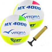Kit 2 Bolas Volei Oficial Vitoria Mx4000 + Bomba