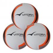 Kit 3 Bolas Futebol Campo Oficial Termofusion Vitoria 1000