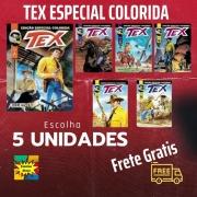 Kit 5 Edições De Tex Especial Colorida - Histórias Completas