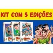 Kit Com 5 Unidades - Turma Da Mônica Jovem - Primeira Série