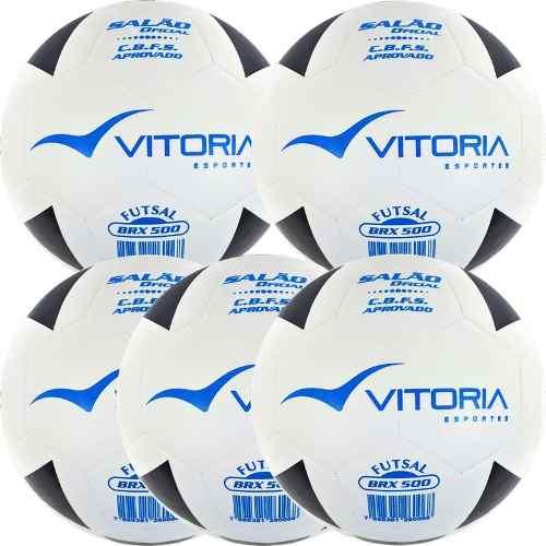Lote Com 5 Bolas Futsal Vitória Oficial Brx Max 500 Original  - Vitoria Esportes