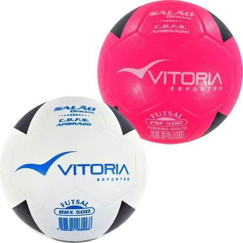 Kit 2 Bolas Futsal Oficial: 1 Brx Max 500 + 1 Brf Max 500  - Vitoria Esportes