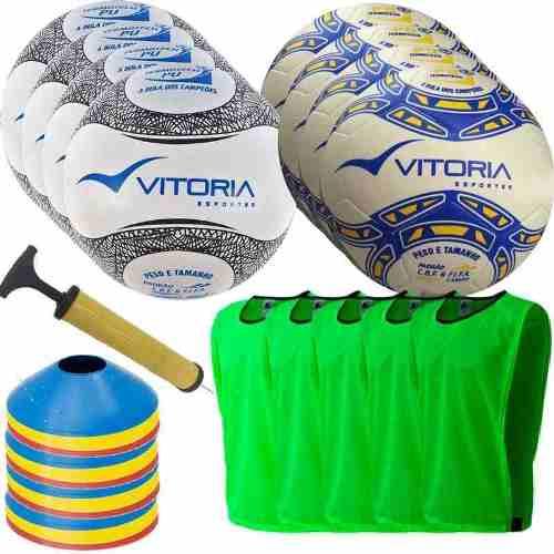 Kit Futebol De Campo Oficial Com Acessórios Para Treino