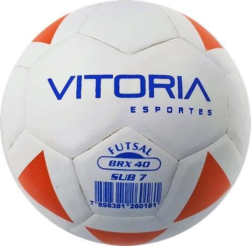 Kit 5 Bolas Futsal Vitoria Brx Max 40 Sub 7 (3/6 Anos) Baby  - Vitoria Esportes