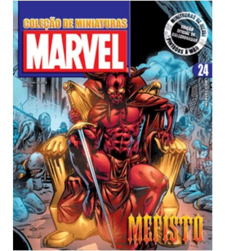 Marvel Figurines Edição 24 - Miniatura Mefisto  - Vitoria Esportes