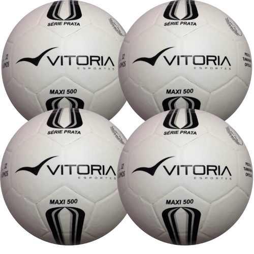 Bola Barata Futsal Vitoria Of Pt Max 500 Kit Com 4 Unidades