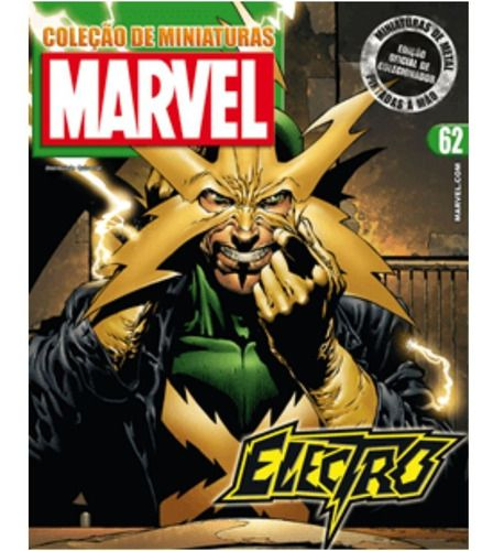 Marvel Figurines Edição 62 - Miniatura Electro  - Vitoria Esportes