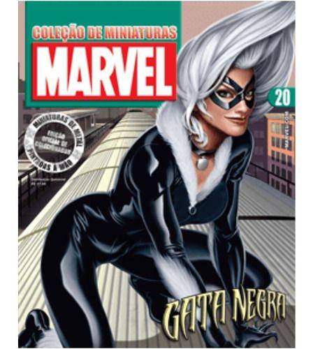 Marvel Figurines Edição 20 - Miniatura Gata Negra  - Vitoria Esportes