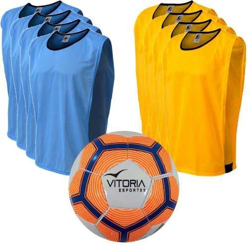 Kit Futsal 9 Itens - Bola Vitoria Mx510 Mais 8 Coletes